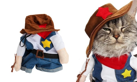 Pet Dog Cat Halloween Costumes The Cowboy Party Christmas Special Events Costume
