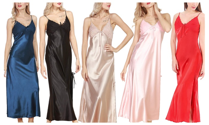 9d3efeca5d622 Up To 62% Off on Nightgown Long Slip Sleeveles...