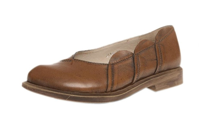 Women's Sofe Leather Work Sewing Slip On Shoes