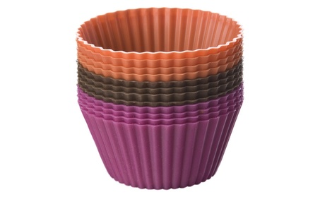 Chicago Metallic 150729 Silicone Baking Cups-Chocolate-Hot Pink-Orange a267fc60-e9cf-4a0a-9bdb-3c120b40d09b