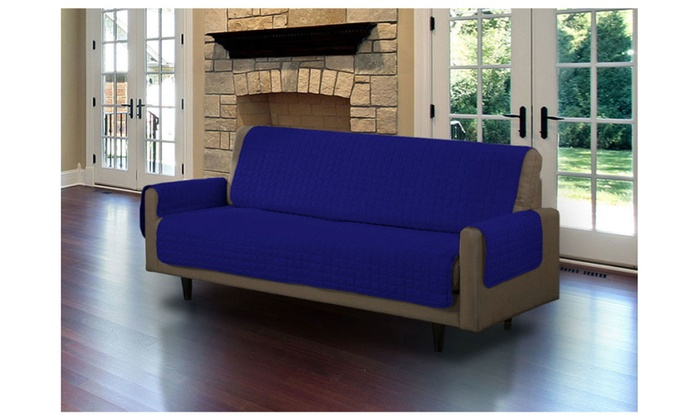 ... Double Sided Micro Suede Sofa 3 Person Seat Cushion