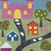LR Home Whimsical Castle Green Blue Rectangle Indoor Kids Area Rug