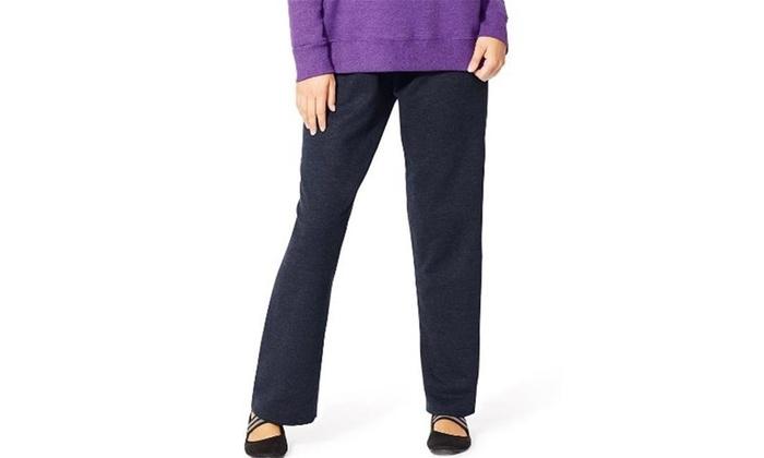765565286ed Just My Size OJ100 Comfortsoft Eco Smart Fleece Open-Hem Womens Sweatpants  Blue Skinny One Size Multi-color