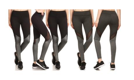 Women's Solid Blocking Sport Leggings (3 Pack) 3749b518-6f4d-4d7a-b543-d9c5f4e46a11
