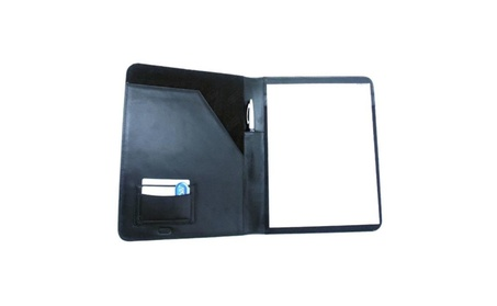 Leatherbay 40102 Classic Leather Padfolio, Black 5067b6c2-fb94-4bd2-bd36-b9f0fb7cf267