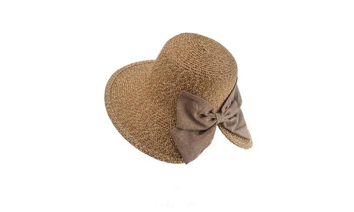 Womens Floppy Summer Sun Beach Straw Hat