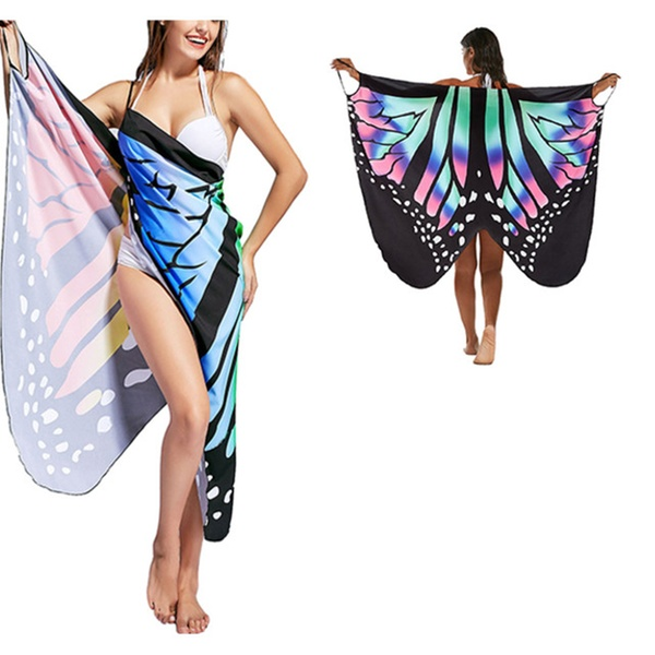 e4999db34f Butterfly Beach Wrap Cover Up Dress | Groupon
