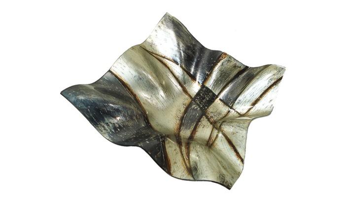 Clickhere2shop: D'Lusso Designs Large Deep Wave Plate Taupe Modern Design