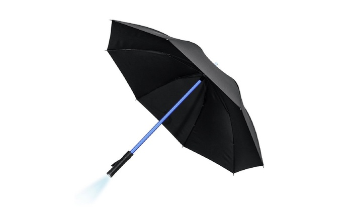 Umbrellas with 7 Color Changing On the Shaft / Built in Flashlight