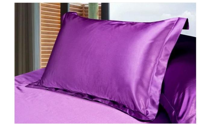 Luxury Silky Soft Satin Pillowcase 2pcs Groupon