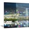 Singapore Financial District?- Cityscape Metal Wall Art 28x12