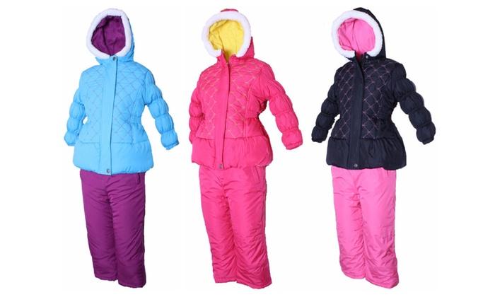London Fog Baby Girls Infant 2 Piece Snowsuit