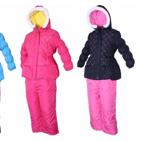 90c14cf525bc PINK PLATINUM Little Girls  Toddler Quilted Jacket   Snow Pants Set ...