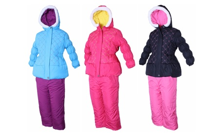 PINK PLATINUM Little Girls' Toddler Quilted Jacket & Snow Pants Set c0d7ab40-0170-4926-8205-6be6f63f9e48