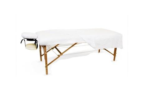 1New White Massage Table Flat Draw Sheet Muslin da1ad06f-0feb-49ce-9db9-7354813a066a