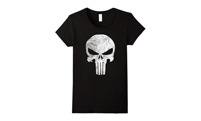d08f7feb7 Marvel Punisher Skull Symbol Distressed Graphic T-Shirt | Groupon