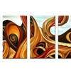 Handpainted Painting - Abstract 4 Panels Artwork 252 - 64x20in