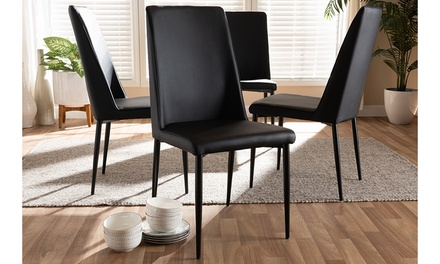Chandelle Faux Leather Upholstered Dining Chair (Set of 4)
