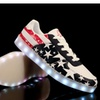 Glidekicks Light Up LED Shoes USA America Low Top Lace Up Sneakers K33