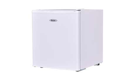 Costway Stainless Steel Refrigerator Cooler Fridge Compact White photo