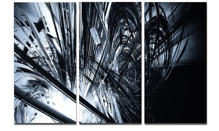 3D Abstract Art Black White - Abstract Digital Art Metal Wall Art ...