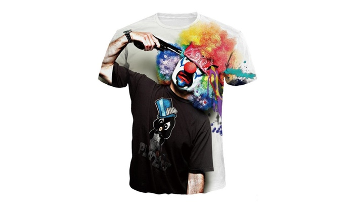 Syins 3D Print Personality Clown Short Sleeve T Shirt
