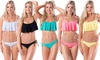 Womens Swimsuits Sexy Mesh Ruffled Crop Bikini Set Bathing Suit