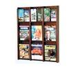 9 Magazine,18 Brochure Wall Display with Brochure Inserts - Mahogany