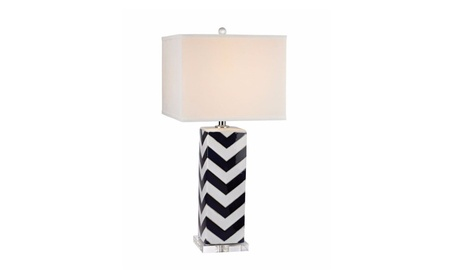 Dimond Lighting Accessories Chevron Table Lamp in Navy f17c2902-e506-4f94-b92e-23773220b6f2