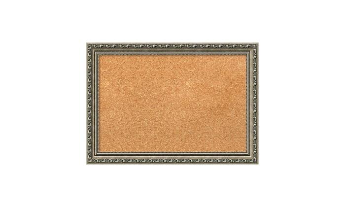Groupon Goods: Framed Cork Board, Parisian Silver