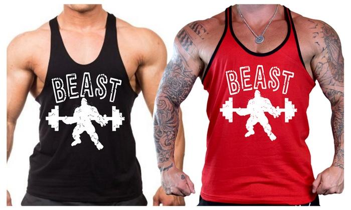 Men's Beast Workout Stringer Tank Top