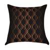 "Loom and Mill P0045-2020P 20"" x 20"" Black Wavy Decorative Pillow"
