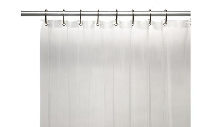 Extra Long Heavy 8 Gauge Vinyl Shower Curtain Liner