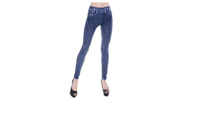 JTC Women's Long Fake Denim Jeans10 Patterns