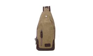Canvas Shoulder Sling Bags (1-Pack or 2-Pack)