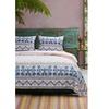 Foulard Fabric Twin Size Quilt Set On Ivory Base Multicolor