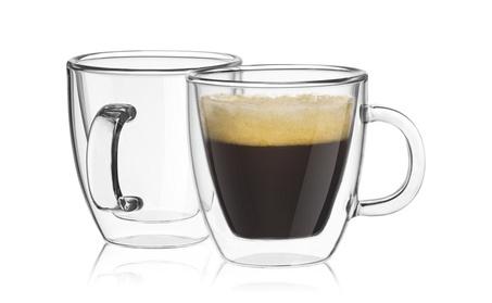 JoyJolt Savor Double Wall Insulated glasses Espresso Mugs Set of 2 bd928225-e019-40f9-a7f3-e028b3b3fee6