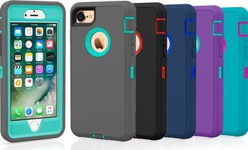 Apple iPhone 7 / 8 / Plus Protective Shockproof Hybrid Defender Case Cover