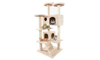 "52"" 80"" Solid Cute Sisal Rope Plush Cat Climb Tree Cat Tower"