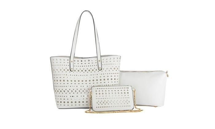 Women Summer Handbags Handle Purse Designer Tote Bag 3 Bags Set