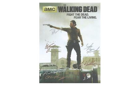 Walking Dead Hand Signed Poster 51fd7165-2ff0-481a-8ec3-dd95a6608fb9