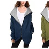 Women's Casual Zip Up Loose Hooded Quilted Coats Jacket