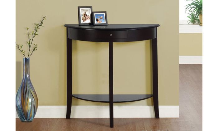 Accent Table 31 Quot L Dark Cherry Hall Console Groupon