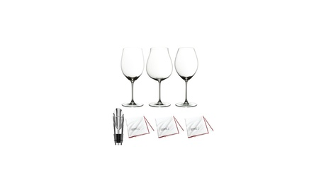 Riedel Veritas Wine Tasting Set, Wine Pourer with Stopper and Microfiber Cloth photo