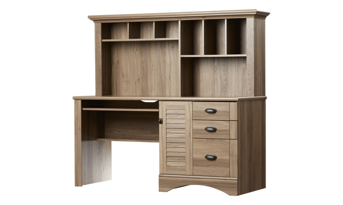 Sauder Harbor View Hutch Salt Oak
