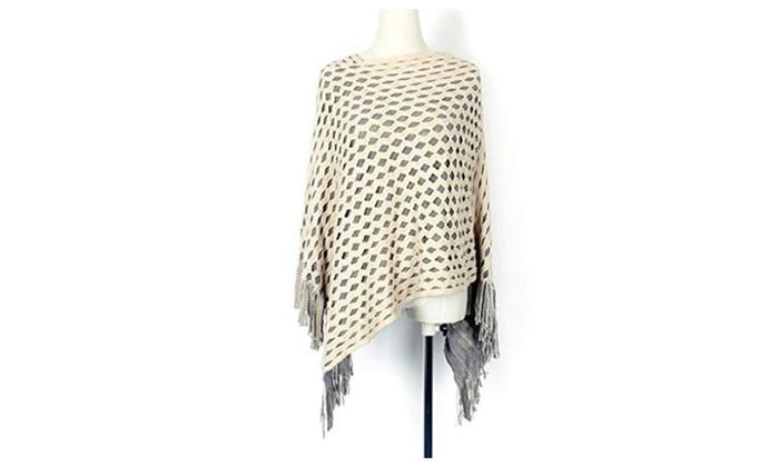 Seastar Women's Knitted Warm Poncho Cape Wrap Shawl Jumper Sweater Jacket