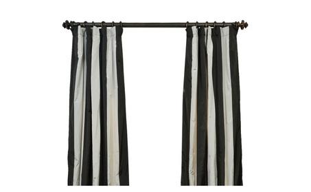 """Berlin Faux Silk Taffeta Stripe Curtain 50"""" Wide Each Panel 4459eee7-bee4-4e13-8402-fcba1942fe8f"""