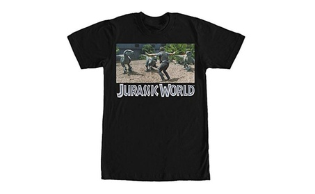 Jurassic World Velociraptor Pack Mens T Shirt ffb5a5ed-359a-4163-9a68-55369218d408