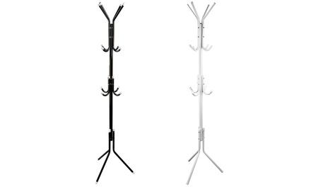 iMounTEK 3-Tier 8-Hook Freestanding Metal Tree Stand Coat Rack Organizer