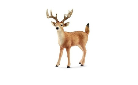 Schleich 14709 Tailed Buck Figurine, Brown & White 42a0b424-37cd-400d-97c8-113e970a8735